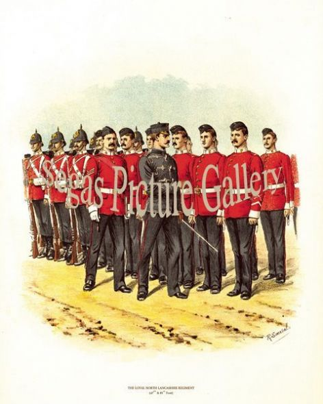 Fine art print of the British Military of The Loyal North Lancashire Regiment (47th and 81st Foot) by Richard Simkin